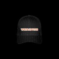 Caps & Mützen ~ Flexfit Baseballkappe ~ Weltallputze Cap-Oh Flock (Orange)