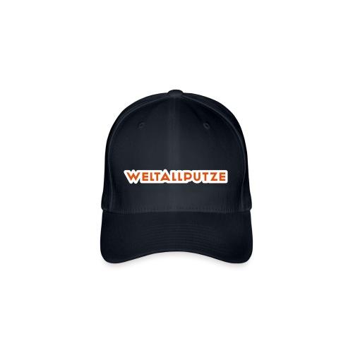 Weltallputze Cap-Oh Flock (Orange) - Flexfit Baseballkappe