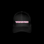 Caps & Mützen ~ Flexfit Baseballkappe ~ Weltallputze Cap-Oh Flock (Pink)