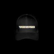 Caps & Mützen ~ Flexfit Baseballkappe ~ Weltallputze Cap-Oh Flex (Gold)