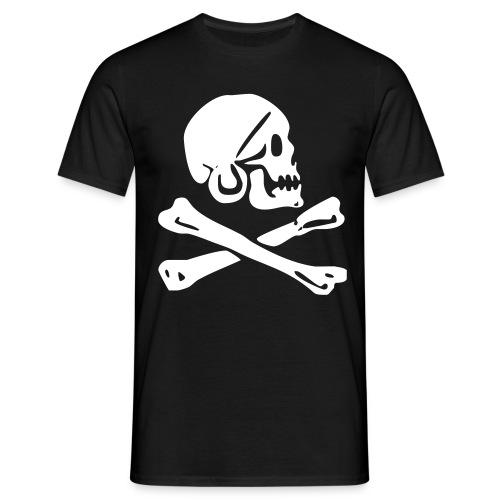 Piratenkopf  - Männer T-Shirt