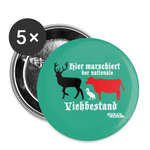 Hier marschiert der nationale Viehbestand - Buttons klein 25 mm