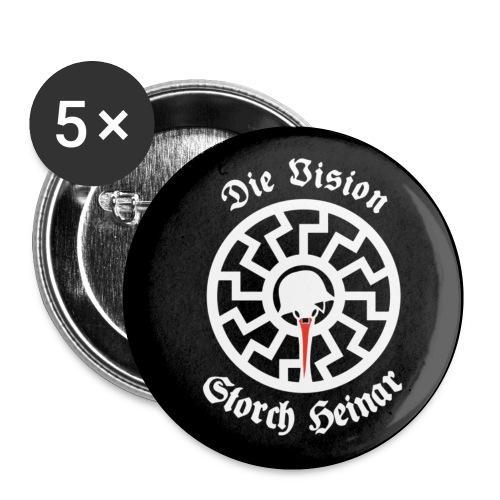 Die Vision Storch Heinar - Buttons klein 25 mm