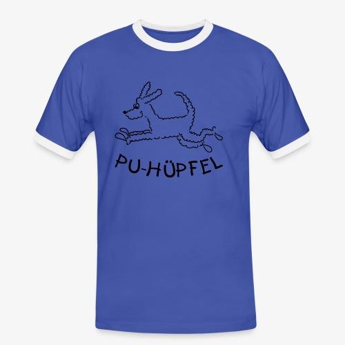 Shirt mit Kontrastbündchen - Männer Kontrast-T-Shirt