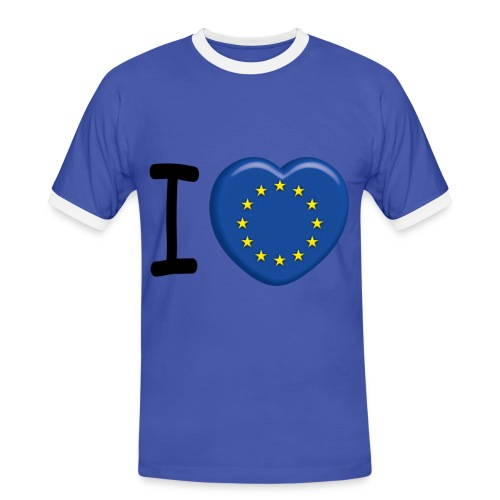 I Love Europe ! - T-shirt contrasté Homme