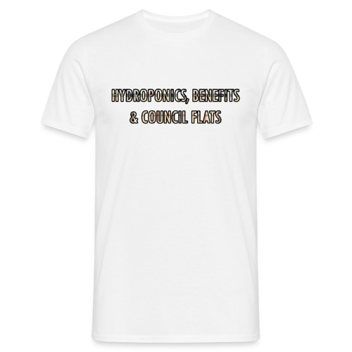 Hydroponics benefits & coucil flats - Men's T-Shirt