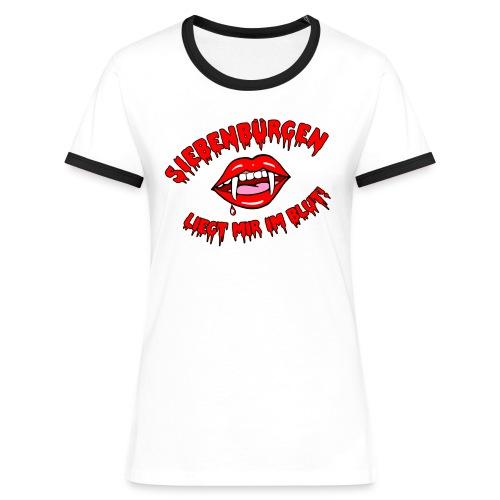 Siebenbürgen - liegt mir im Blut. Schickes Shirt für echte Transylvanierinnen!  - Frauen Kontrast-T-Shirt