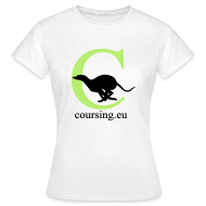 T-Shirts ~ Women's T-Shirt ~ Coursingshirt female classic white