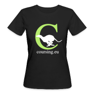 T-Shirts ~ Women's Organic T-shirt ~ Coursingshirt Woman organic black