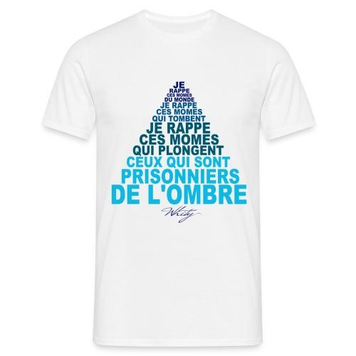 T-shirt Homme - whity,whit,vrai hip hop,unite,true vibes,real,rap conscient,patience et sacrifices,paix,momesdumonde,momes du monde,momes,merchandising,lutte,la flevprod,je rappe,flev,enfants,droits de l'enfant,children of the world,beatmaker,association,amour,acharnement