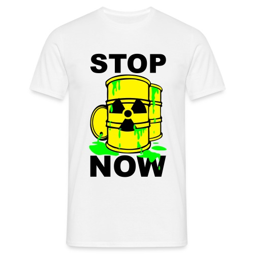 T-Shirt Mann Stop Now grün© by kally ART®  - Männer T-Shirt