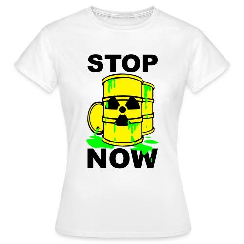 T-Shirt Frau Stop Now grün© by kally ART®  - Frauen T-Shirt