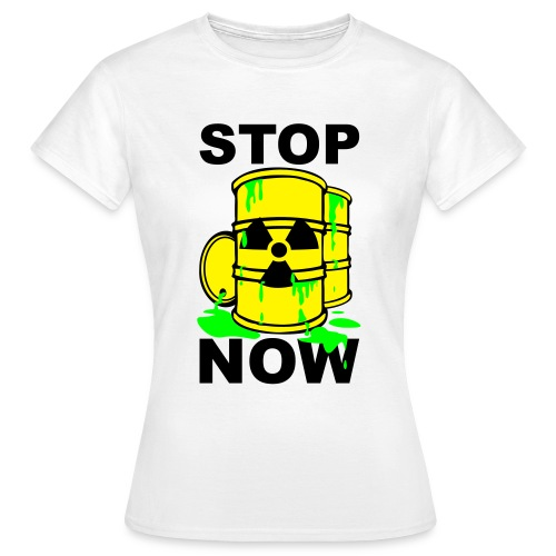 T-Shirt Frau Stop Now grün© by kally ART®  - Frauen T-Shirt