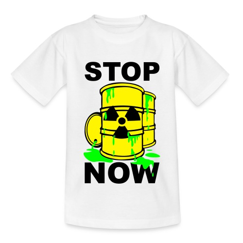 T-Shirt Kids Stop Now grün© by kally ART®  - Teenager T-Shirt