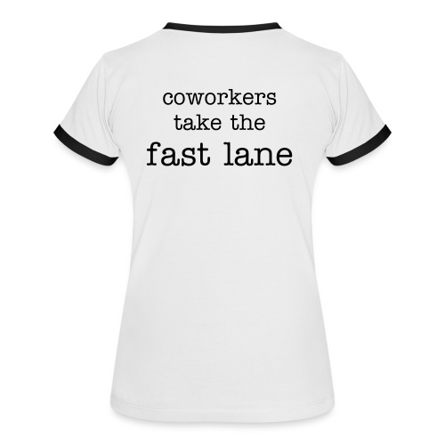 konnex Laufshirt coworkers take the fast lane - Frauen Kontrast-T-Shirt