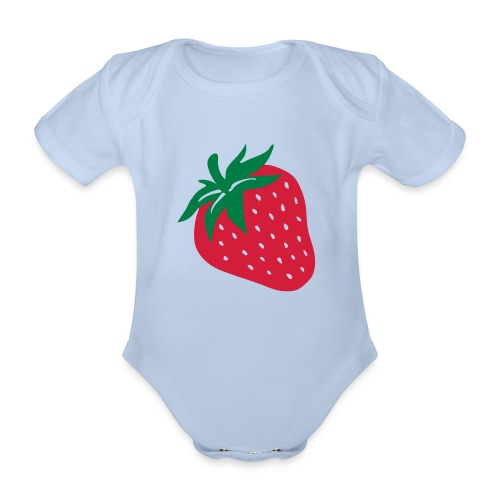 Body bébé fraise - Body bébé bio manches courtes