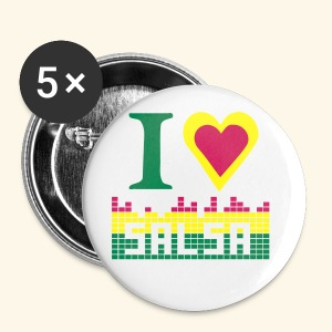 I LOVE SALSA badge - Badge grand 56 mm