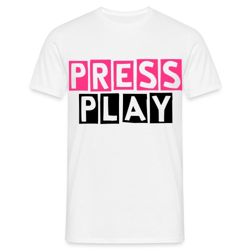 Press Play (M) (F) - Mannen T-shirt