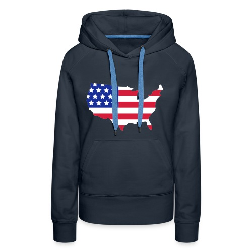 USA hoodie - Premiumluvtröja dam