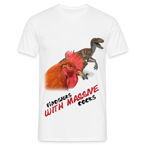 dinosaurs with massive cocks (M) - Maglietta da uomo