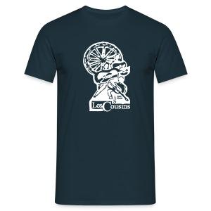 Les Cousins Men's T-shirt (White logo) - Men's T-Shirt