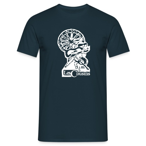 Les Cousins Men's T-shirt (White logo) - Men's T-Shirt