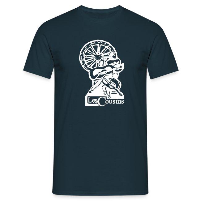 Les Cousins Men's T-shirt (White logo)