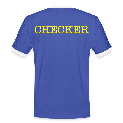Become a CHECKER! - Men's Ringer Shirt