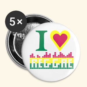 I LOVE REGGAE BADGE - Badge grand 56 mm
