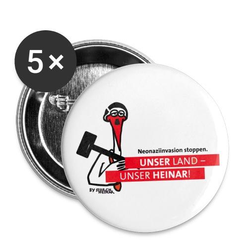Naziinvasion stoppen! Unser Land - unser Heinar - Buttons klein 25 mm