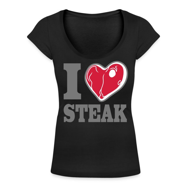 I LOVE STEAK sexy black