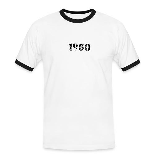 1950 - Männer Kontrast-T-Shirt