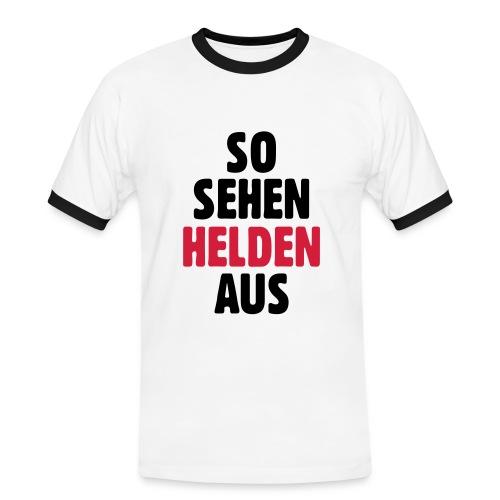 Helden - Männer Kontrast-T-Shirt