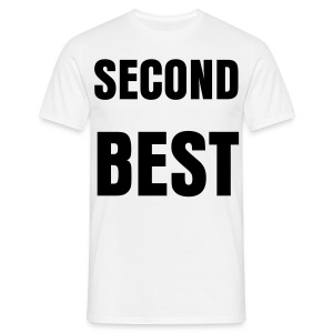 'SECOND BEST' mens t-shirt - Men's T-Shirt