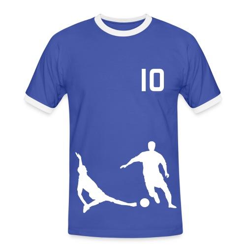 Soccer2 Blue/White - Men's Ringer Shirt