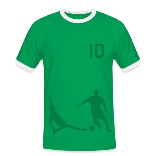 Soccer2 Red/Green - Men's Ringer Shirt