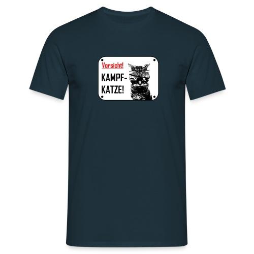 Kampfkatze - T-skjorte for menn