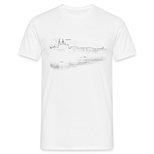 Basel am mym Rhy weiss - Männer T-Shirt