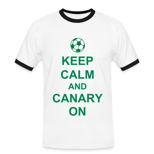 Norwich City mens - Keep Calm and Canary On - Men's Ringer Shirt