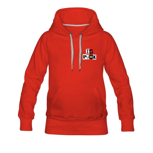 I Love Punk red Hoody - by SweetyCool.Clothing - Frauen Premium Hoodie