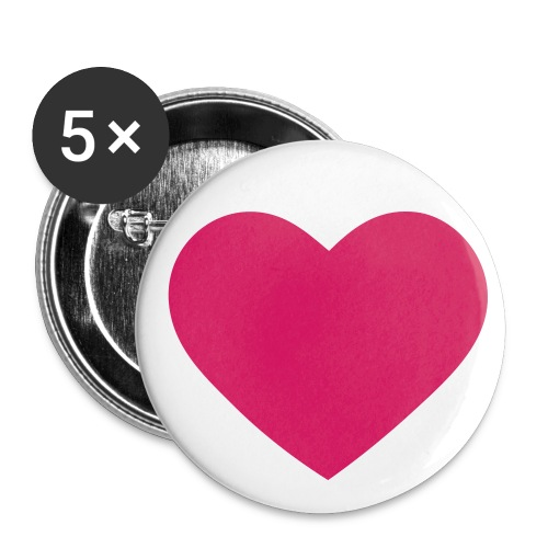 herzbutton - Buttons mittel 32 mm