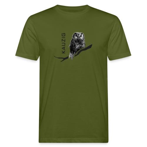 Männer Bio Shirt Eule Kauz Uhu kauzig Tiershirt Shirt Tiermotiv - Männer Bio-T-Shirt