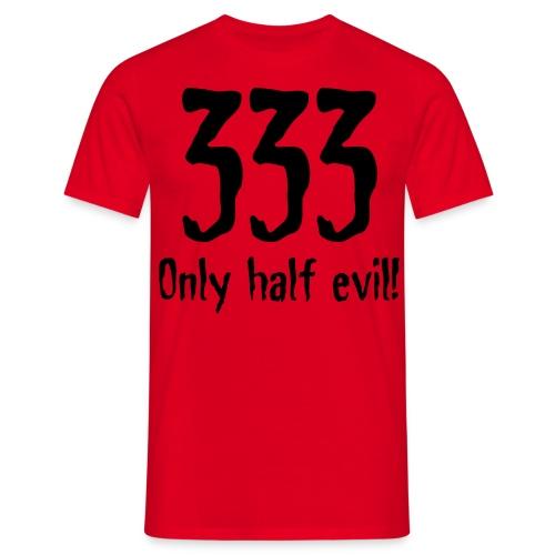 333 Half evil - Men's T-Shirt