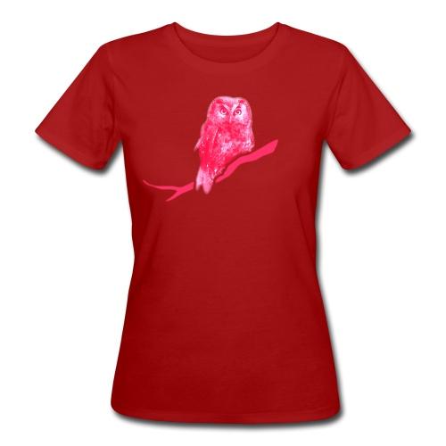 Bio Damen Girlie Shirt Eule Kauz Uhu kauzig Tiershirt Shirt Tiermotiv - Frauen Bio-T-Shirt