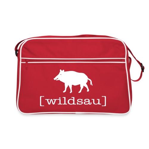 Tasche Tragetasche Umhängetasche Baumwollbeutel Retro Tier Tiermotiv - Retro Tasche