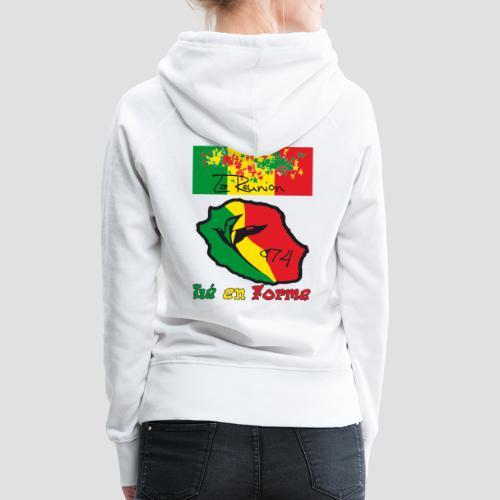 Sweatshirt à capuche Femme 974 ker kreol collection - Sweat-shirt à capuche Premium pour femmes