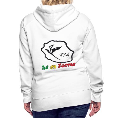 Sweatshirt à capuche Femme 974 ker kreol collection 2011 - Sweat-shirt à capuche Premium pour femmes