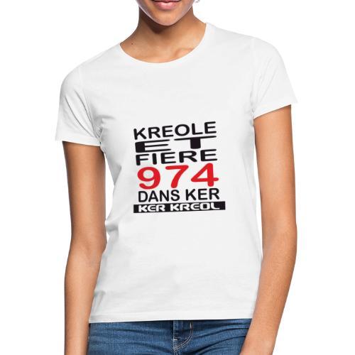 T-shirt Classique Femme Kreole et Fiere - 974 Ker Kreol - T-shirt Femme