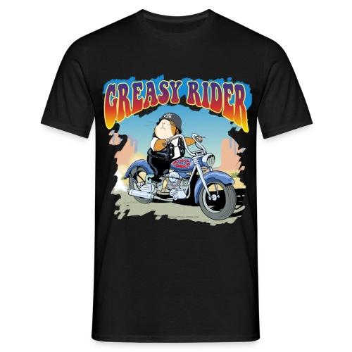 Greasy Rider - Männer T-Shirt