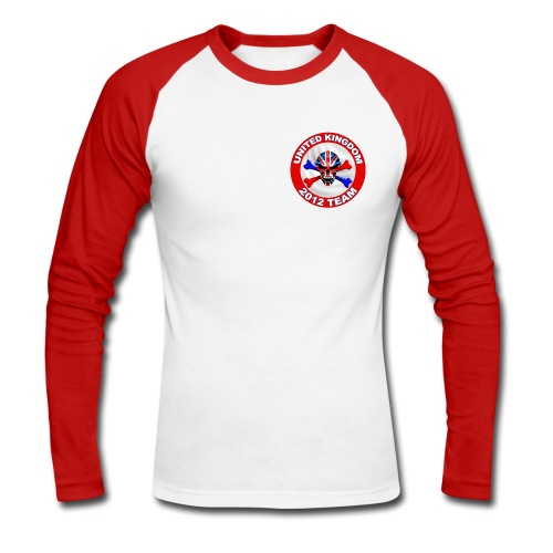 Union Jack Skull  - Men's Long Sleeve Baseball T-Shirt